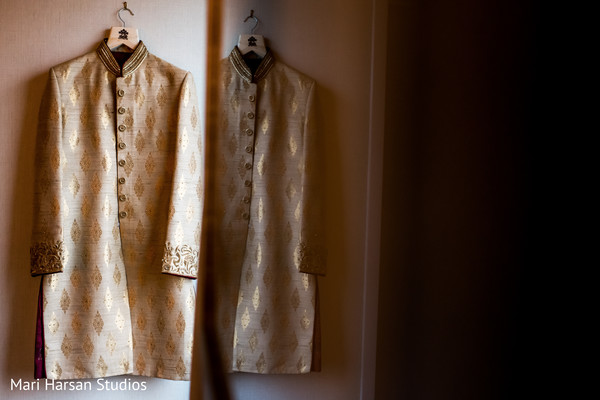 Details of the beautiful sherwani worn by Raja