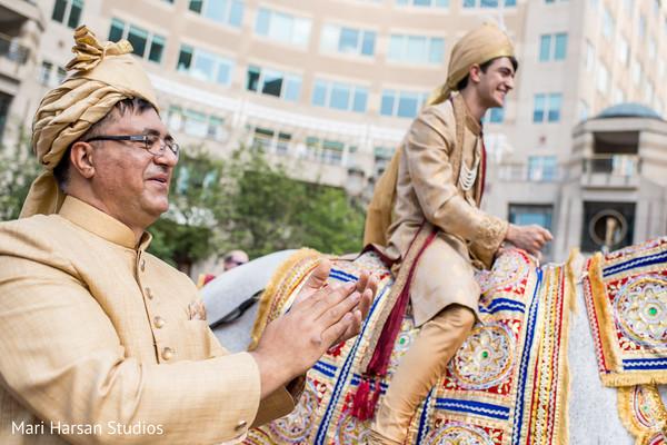 Glamorous indian baraat procession