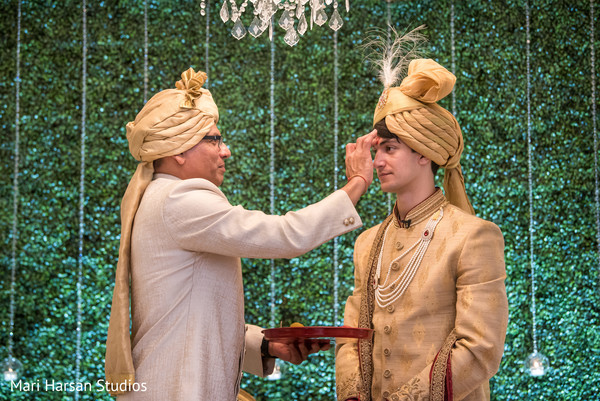 Indian groom at wedding traditions