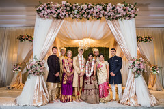 Indian wedding family portrait
