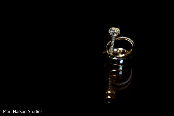 Indian couple wedding rings