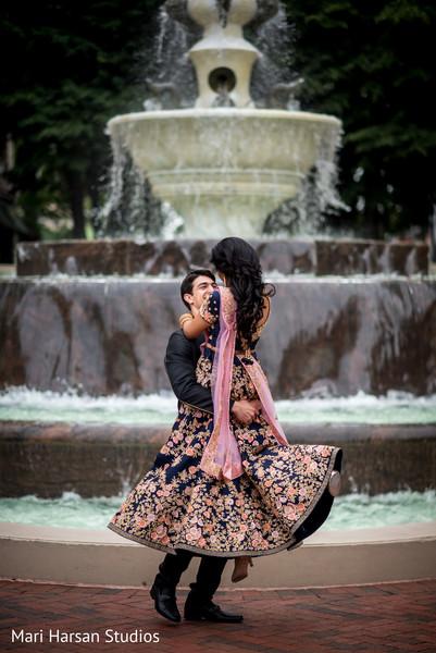 Joyful indian couple