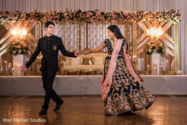 Maharani and Raja dancing at the reception