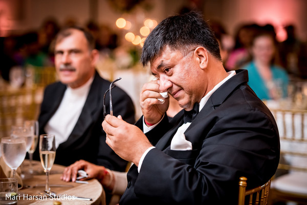 Emotional moment of the Indian wedding reception