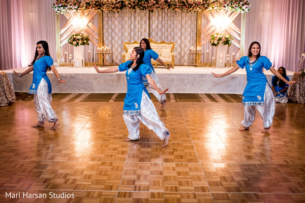 Beautiful dancers performing the choreography
