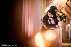 Indian groom hugging the Maharani