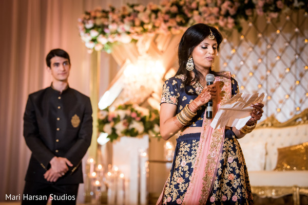 Maharani delivering a message to the guests