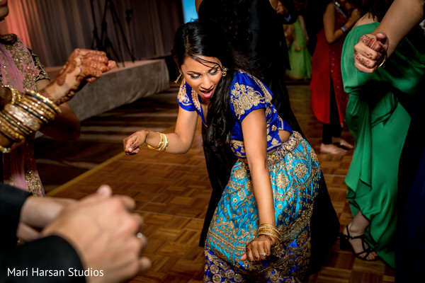 Moments of the Indian wedding reception