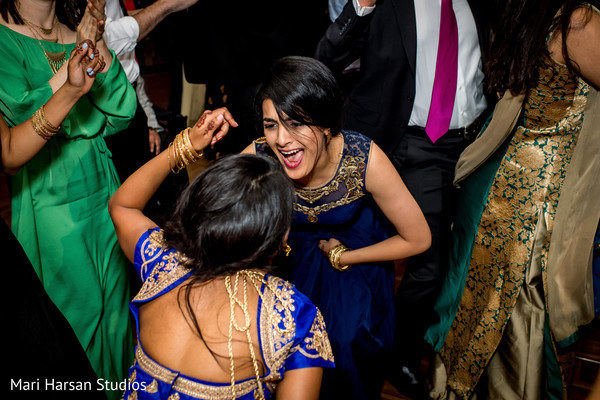 Maharani and guest dancing to the music