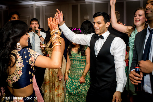 Indian couple having their dance