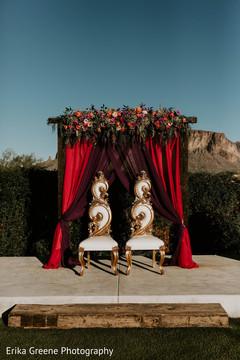 Elegant indian wedding mandap