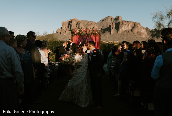Lovely outdoor indian fusion wedding