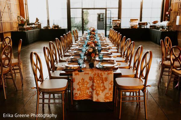 Minimalist indian wedding table set up