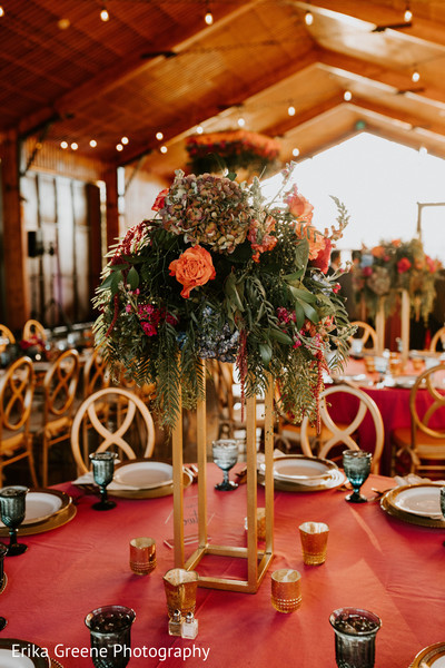 Lovely indian wedding centerpieces
