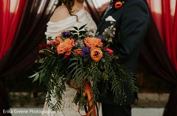 Exotic indian bridal bouquet