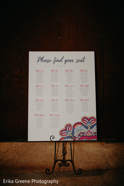 Indian wedding seating chart
