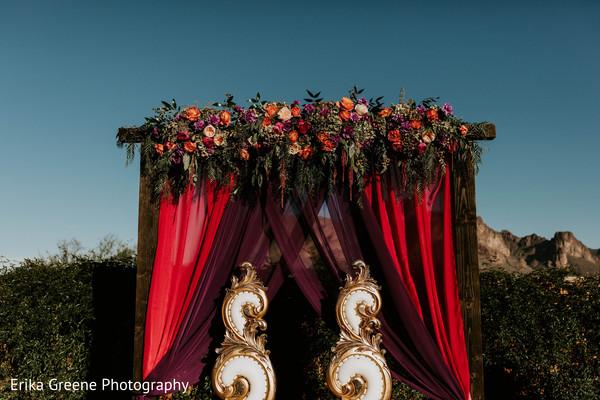 Indian wedding outdoor mandap