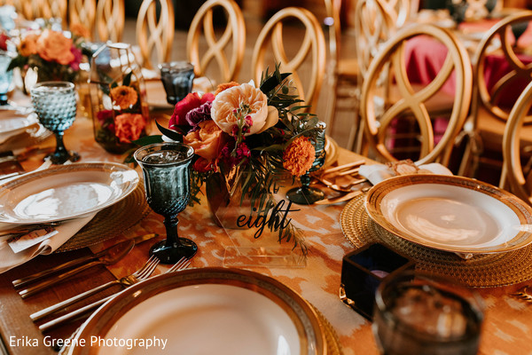 Lovely indian wedding table decor and set up