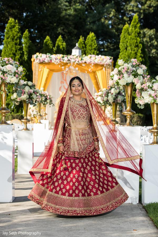 Stunning portrait of Indian bride.