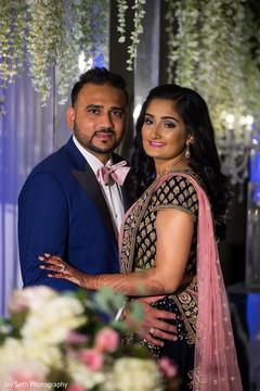 Gorgeous Indian couple's portrait.