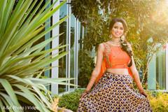 Beautiful Maharani posing with lengha