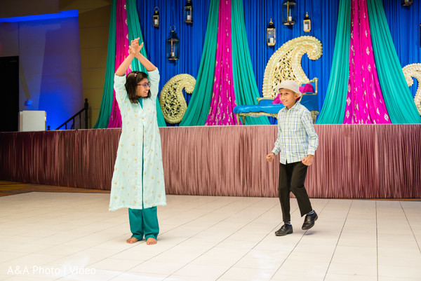 Lovely kid guests performing