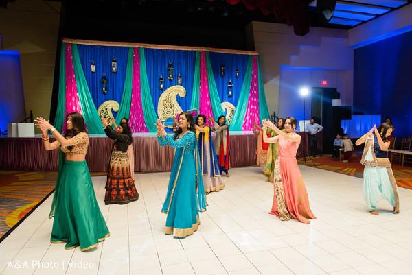 Beautiful guests dancing at the venue