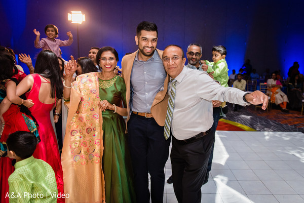 Indian groom with special guests