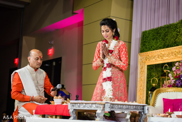 Spiritual moment from the Indian bride