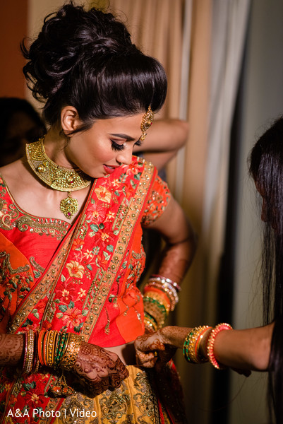 Dazzling bride getting ready for her big day