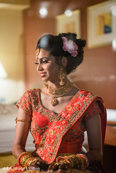 Capture of Indian bride prior to the ceremony