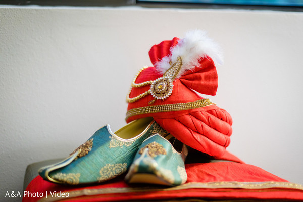 Pagri and shoes used by Indian groom