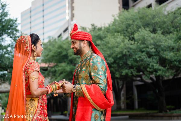 Indian groom meeting the Maharani