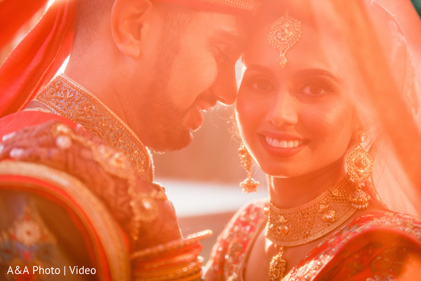 Artistic shot of Indian couple