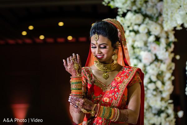 Beautiful portrait of the dazzling bride