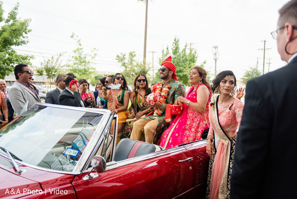 Indian groom arriving with the Baraat