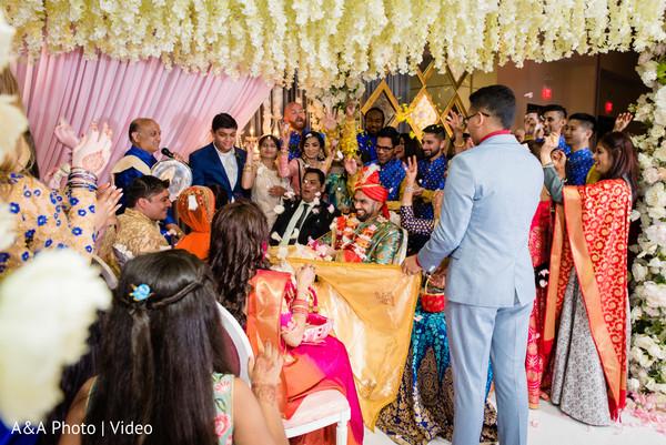Indian couple under the mandap