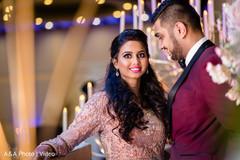Indian bride staring at the camera