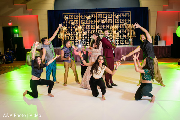 Dancers performing a choreography