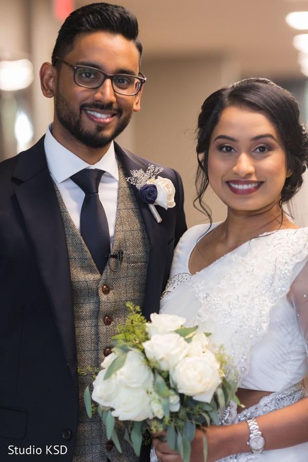 Portrait of beautiful Maharani and Raja after the wedding