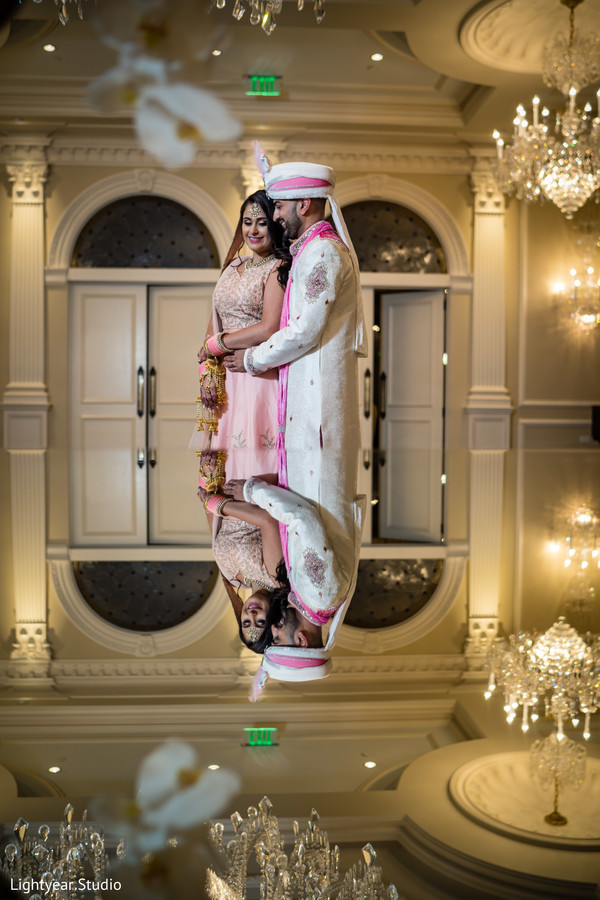 Magical capture of Indian bride and groom.