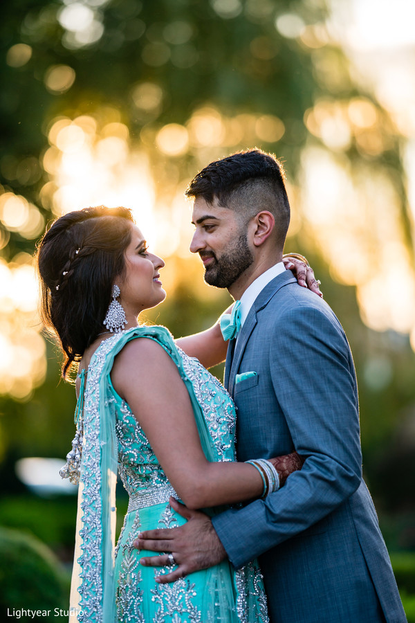 Indian couple outdoors capture.