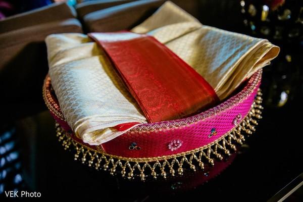 Wonderful Indian bridal ceremony belt and sari.