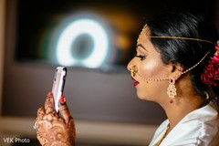 Maharani taking a selfie.