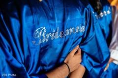 Closeup capture of Indian bridal robe.