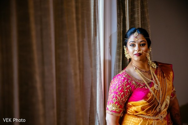 Elegant Indian bride photography.