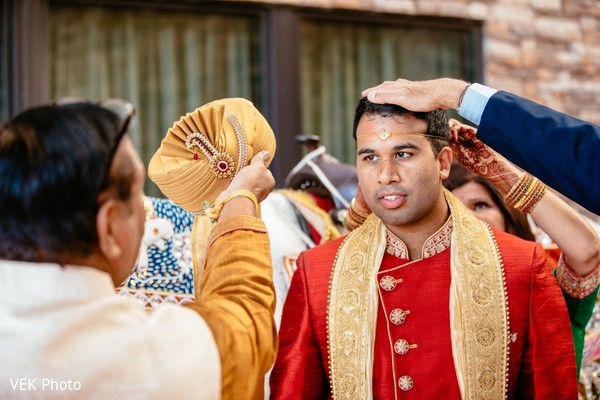 See this indian groom at his baraat ritual.