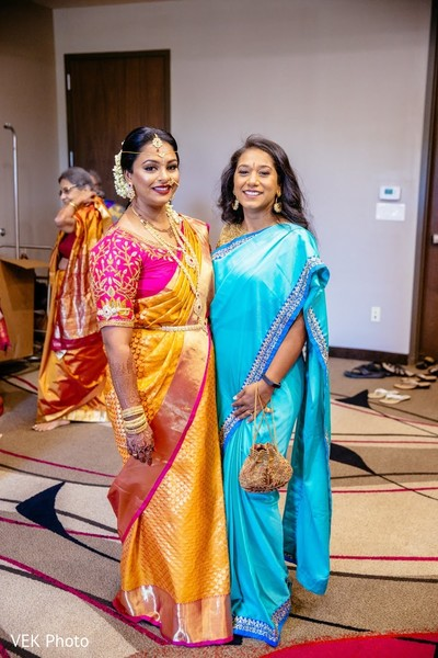 Lovely Indian bride and guest portrait.