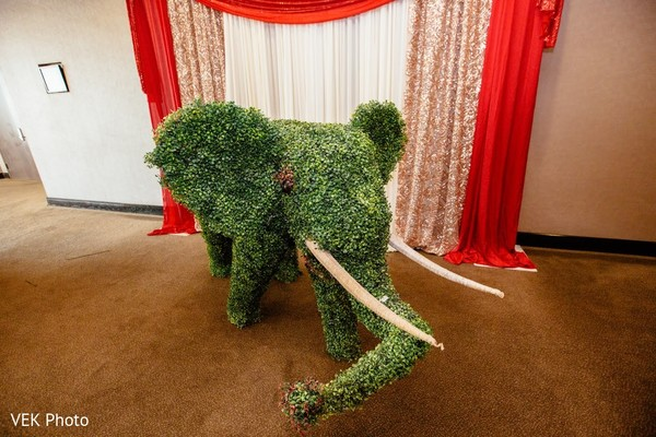 See this green Indian wedding elephant decoration.