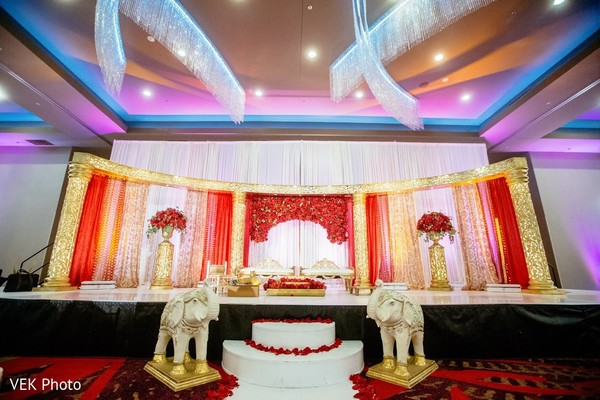 Stunning Indian wedding ceremony decoration.